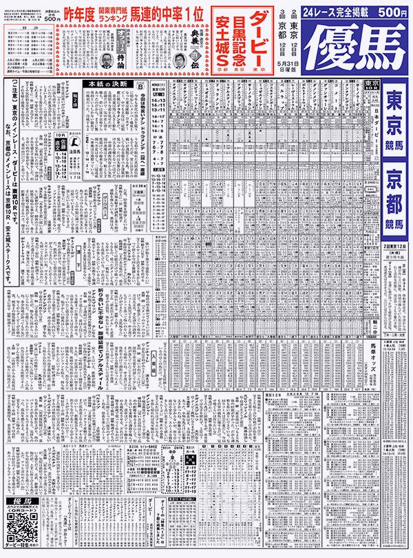 競馬専門紙・優馬 サンプル