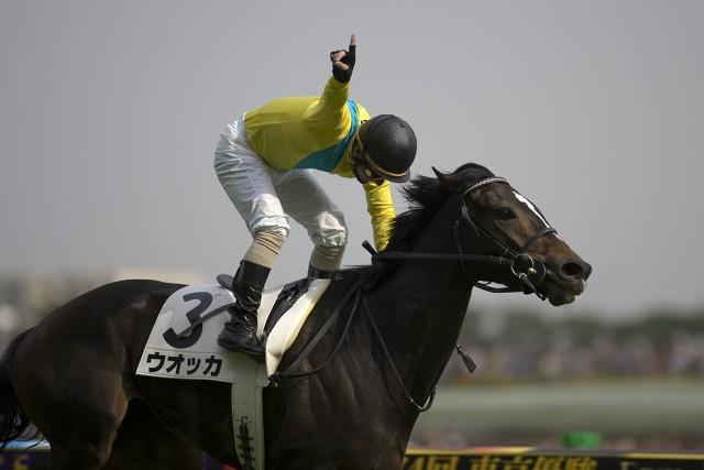 64年ぶりに牝馬でダービーを制したウオッカ(撮影:下野雄規)