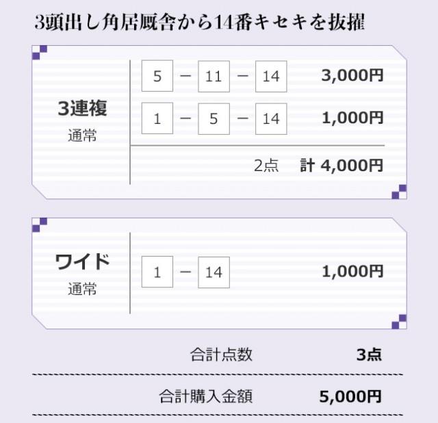 宝塚記念、持木TMの買い目